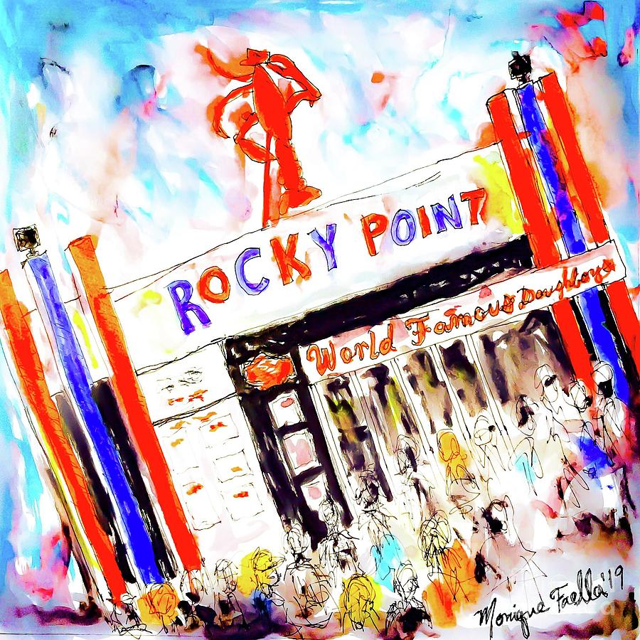 Rhode Island Mixed Media - Rocky Point Chowder House by Monique Faella