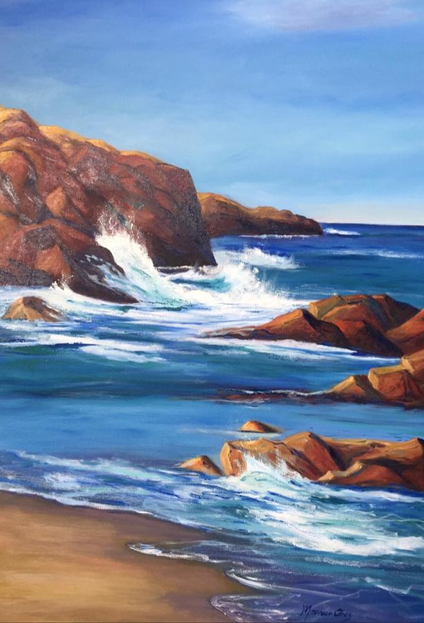 Rocky Shores,Minot Light by Maureen Obey
