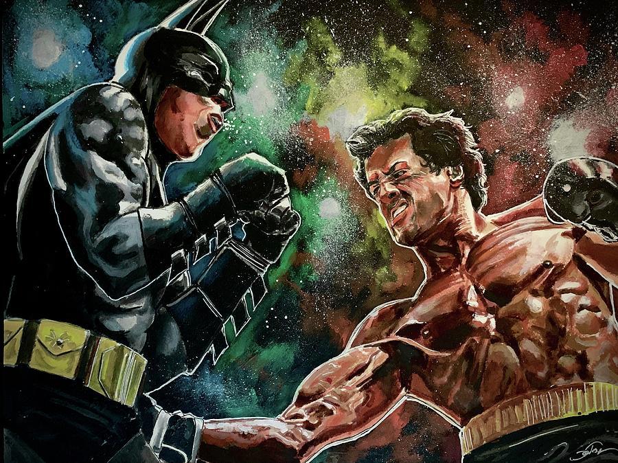 Rocky vs Batman by Joel Tesch