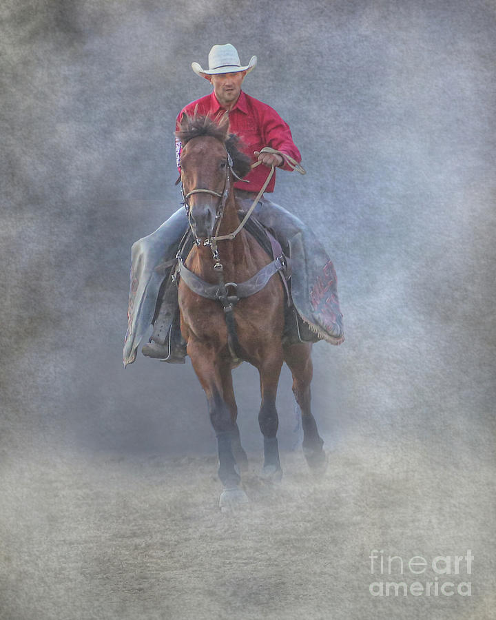 Rodeo Cowboy At The Rodeo by Randy Steele