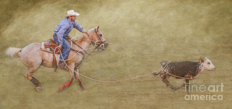 Rodeo Event Calf Roping by Randy Steele