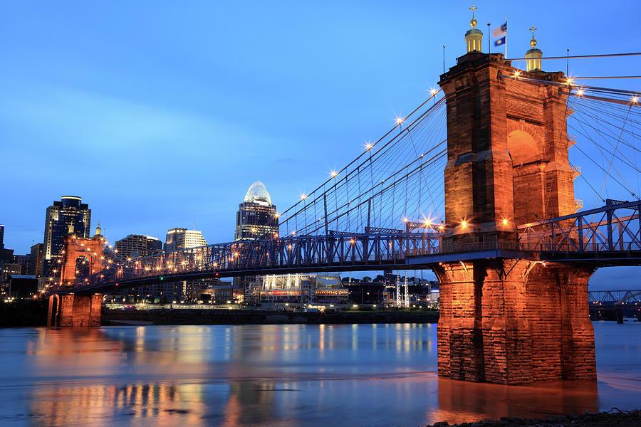 Roebling Bridge, Cincinnati, Ohio Photograph by Veni