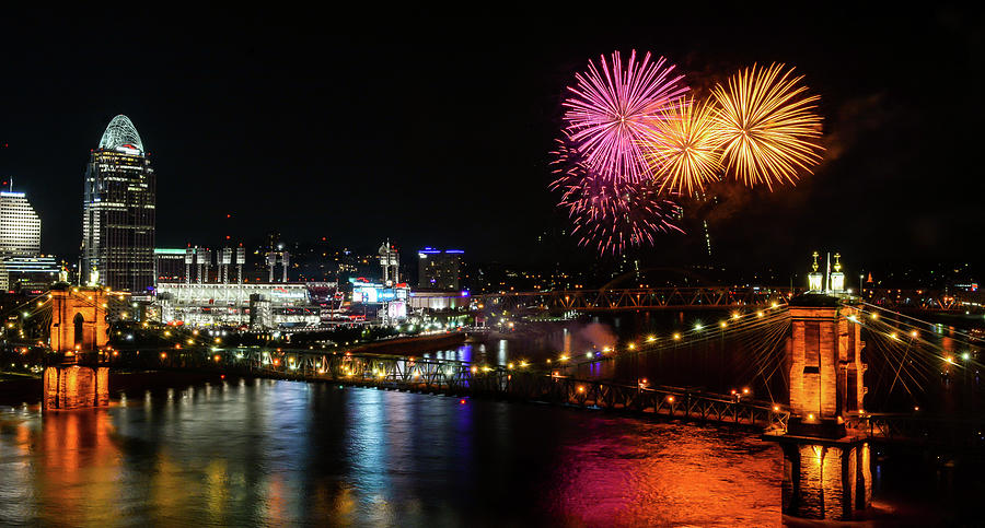 Roebling Fireworks by Jim Figgins