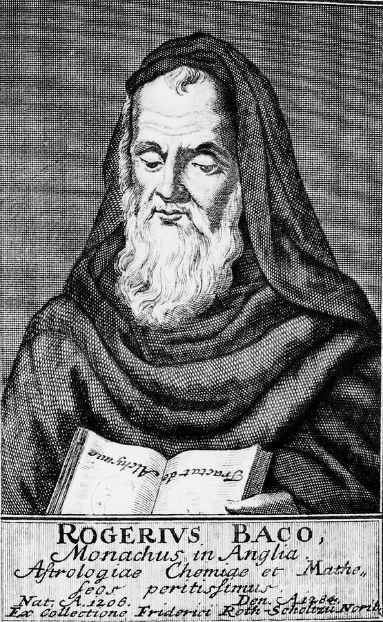 Roger Bacon, Philosopher And Scientist Drawing by Print Collector