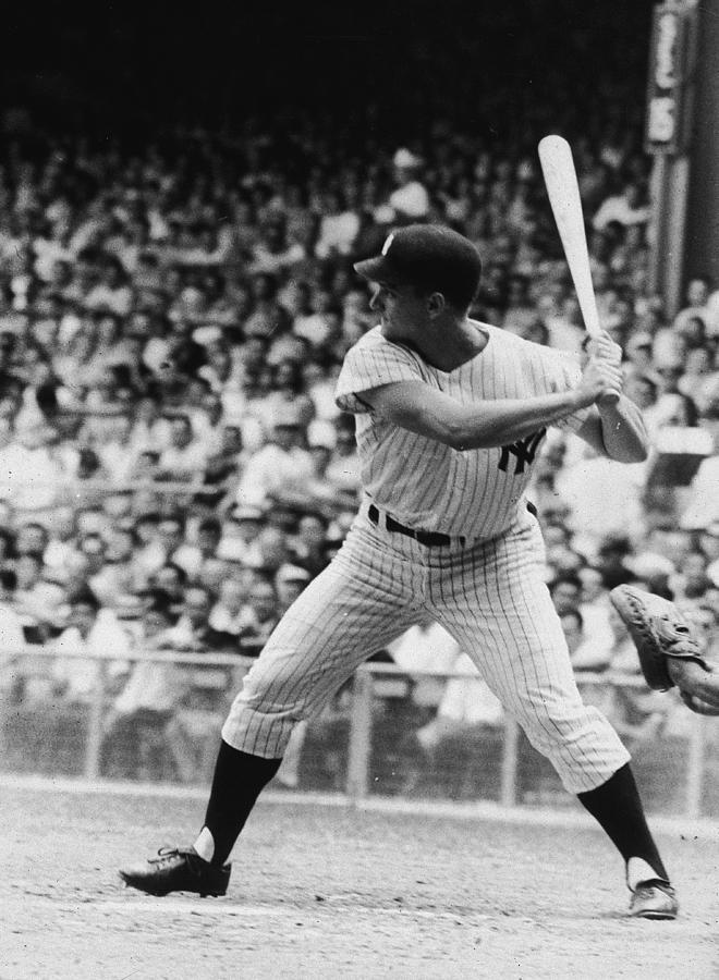 Roger Maris At Bat At Yankee Stadium Photograph by Hulton Archive