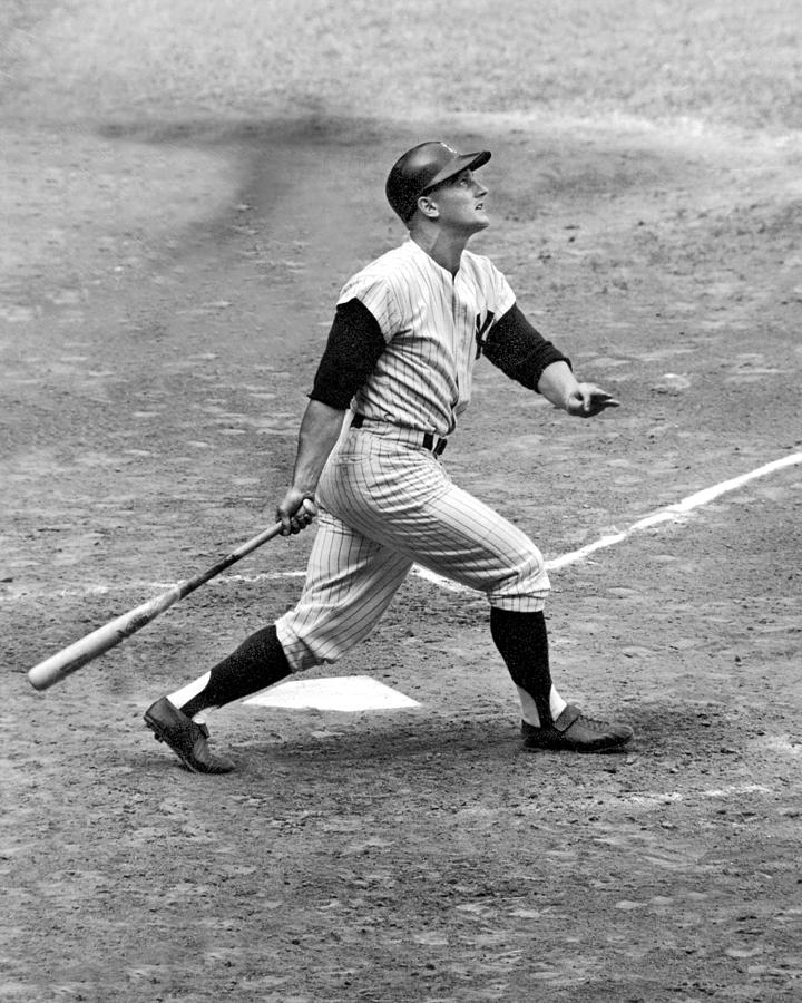 Roger Maris Watches His 1,000th Major Photograph by New York Daily News Archive