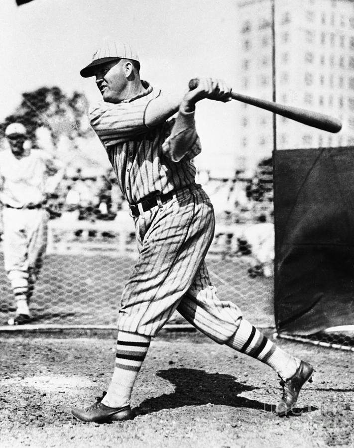 Rogers Hornsby In Batting Cage Photograph by Bettmann