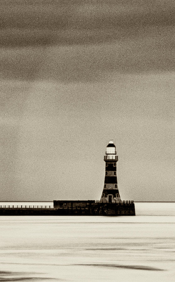 Roker Pier and Lighthouse in Sepia by Paul Cullen