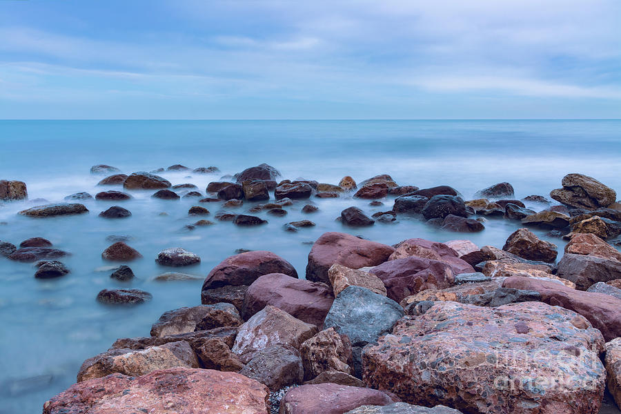 Long Exposure Photograph - Rocks And Sea 1 by Vicente Sargues