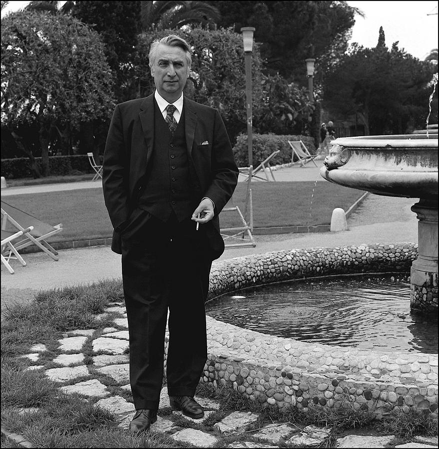 Roland Barthes, Writer N+b In France In Photograph by Louis Monier