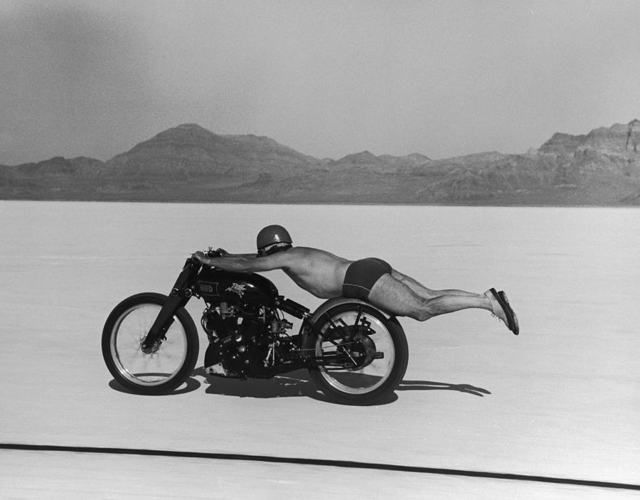 Roland Free Breaks Speed Record Photograph by Peter Stackpole