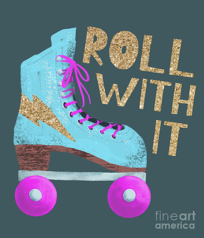 Roll With It Vintage Roller Skate by Namibear