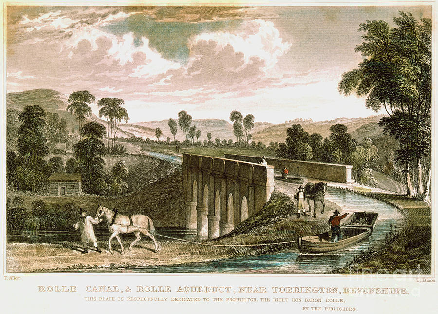Rolle Canal And Aqueduct Drawing by Print Collector