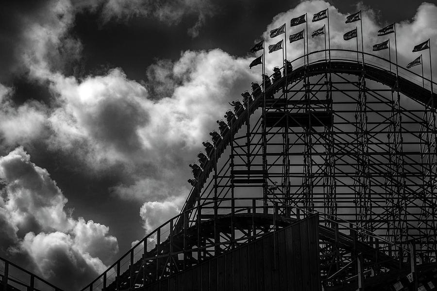 Alan Campbell Photograph - Roller Coaster Of Joy, Tayto Park, Dublin by Alan Campbell