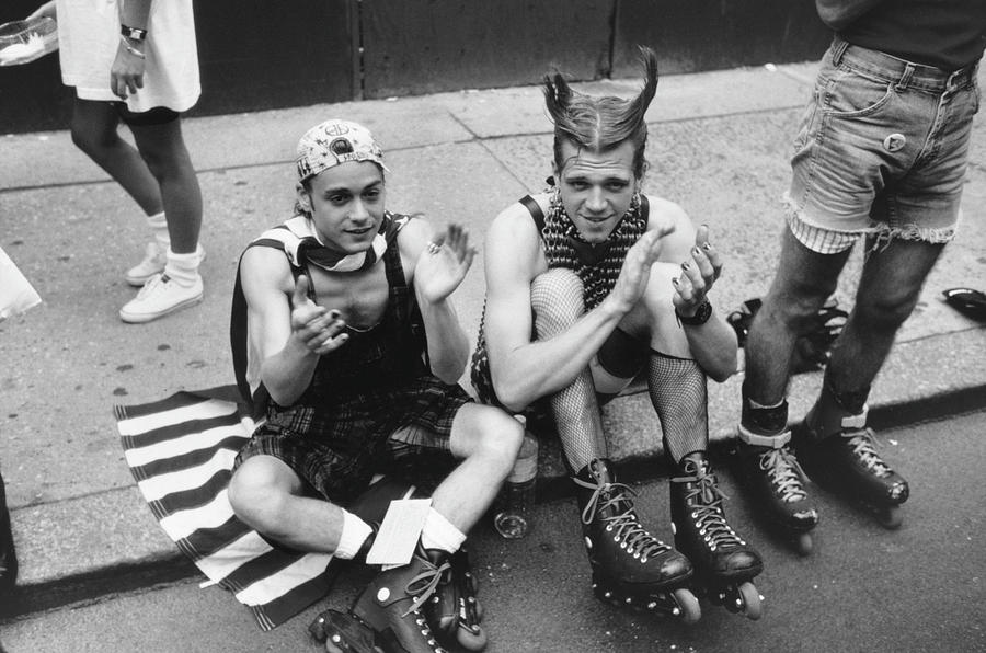 Rollerblades On Gay Pride Day Photograph by Fred W. McDarrah