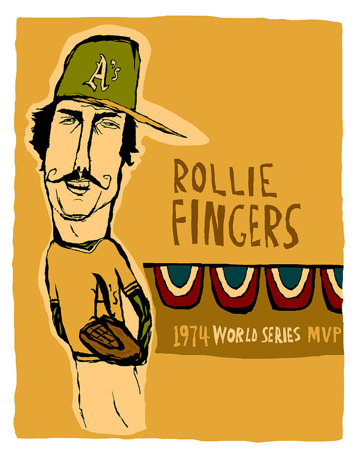 Rollie Fingers Painting - Rollie Fingers Oakland As by JB Perkins