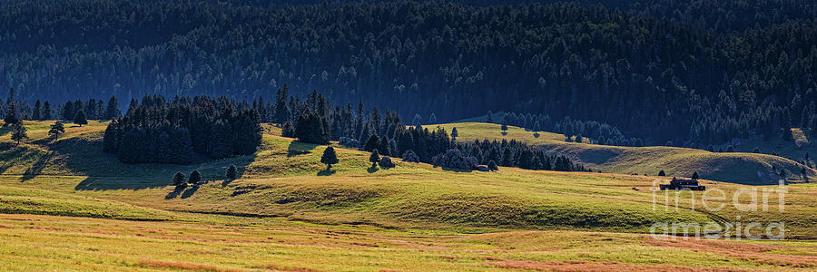 Rolling Grassland Meadows And The Missing Cabin In Valles Caldera Jemez Mountains New Mexico Photograph