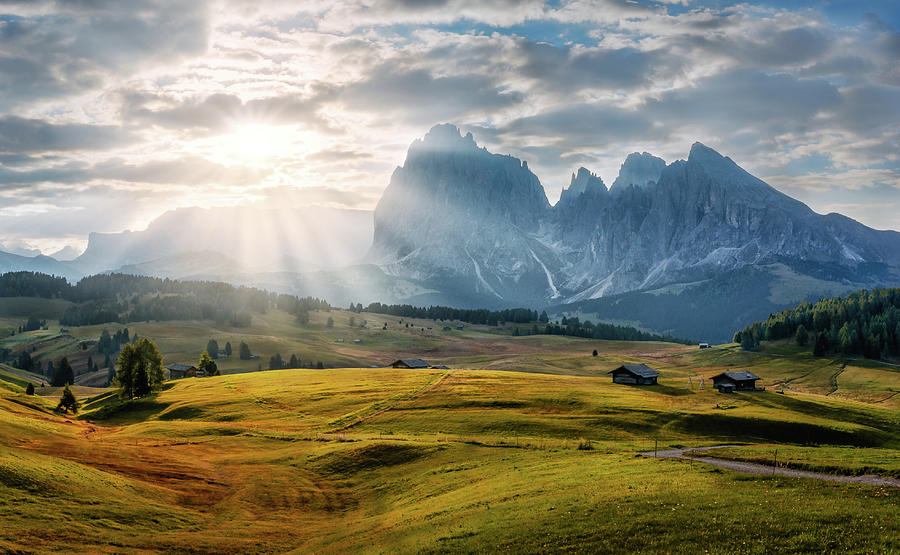 Rolling hills Of Alpe di Siusi by Dmytro Korol