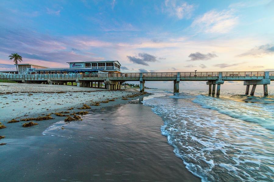 Rolling In along Lake Worth Beach by Debra and Dave Vanderlaan