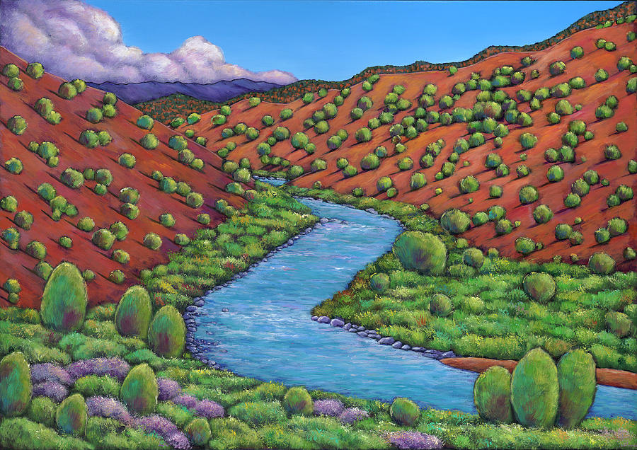 Landscape Painting - Rolling Rio Grande by Johnathan Harris