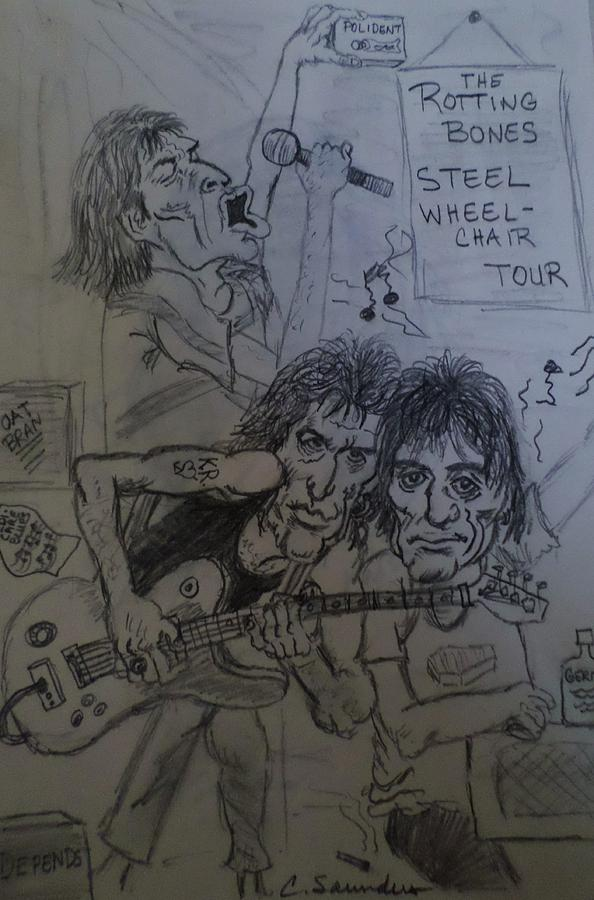 Rolling Stones Caricature Drawing