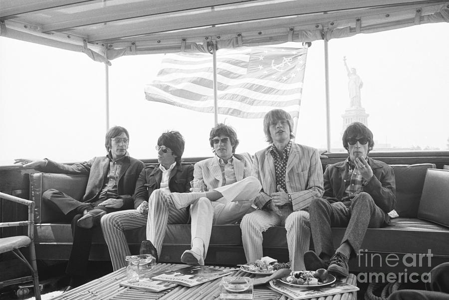 Rolling Stones Cruising New York Harbor Photograph by Bettmann