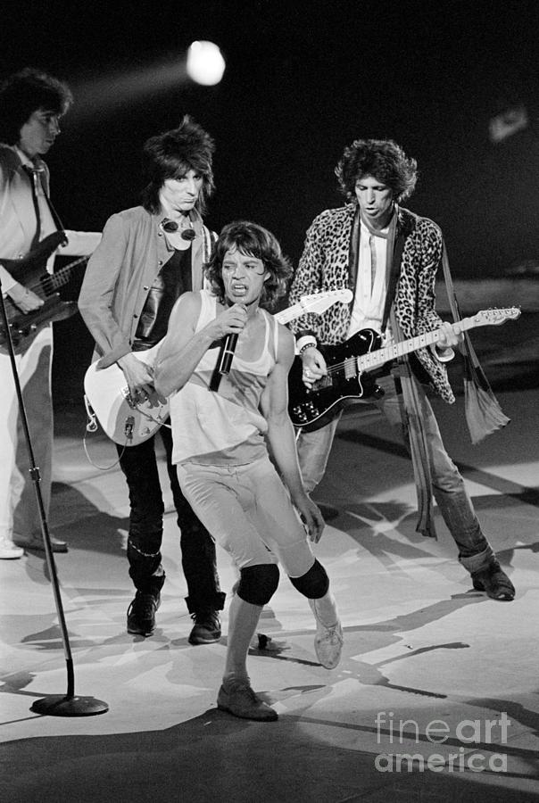 Rolling Stones Performing At Meadowlands Photograph by Bettmann