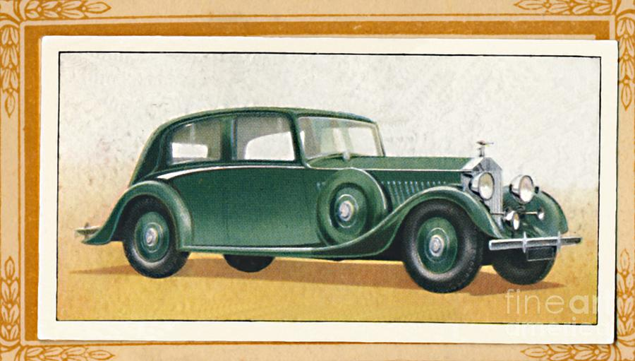 Rolls-royce 20-25 Saloon, C1936 Drawing by Print Collector