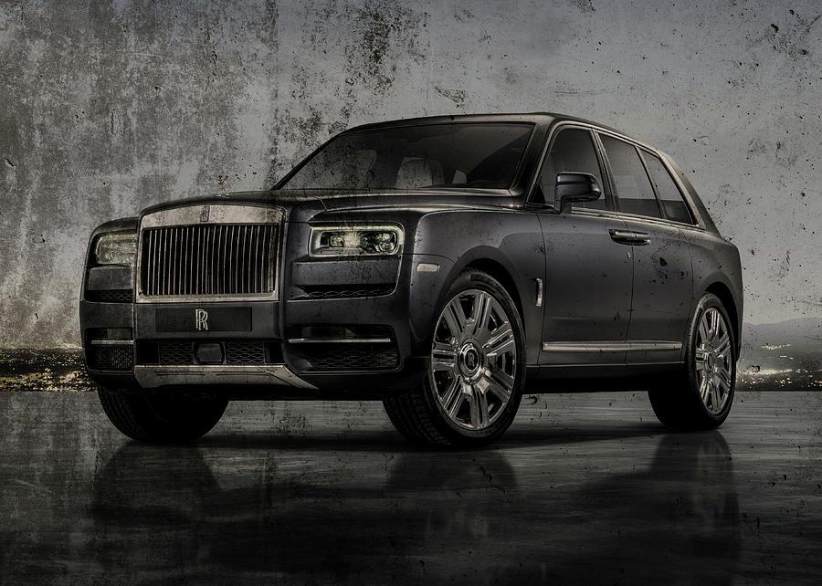 Rolls Royce Photograph - Rolls Royce Cullinan Side Profile Luxury Sports Car Series by Design Turnpike