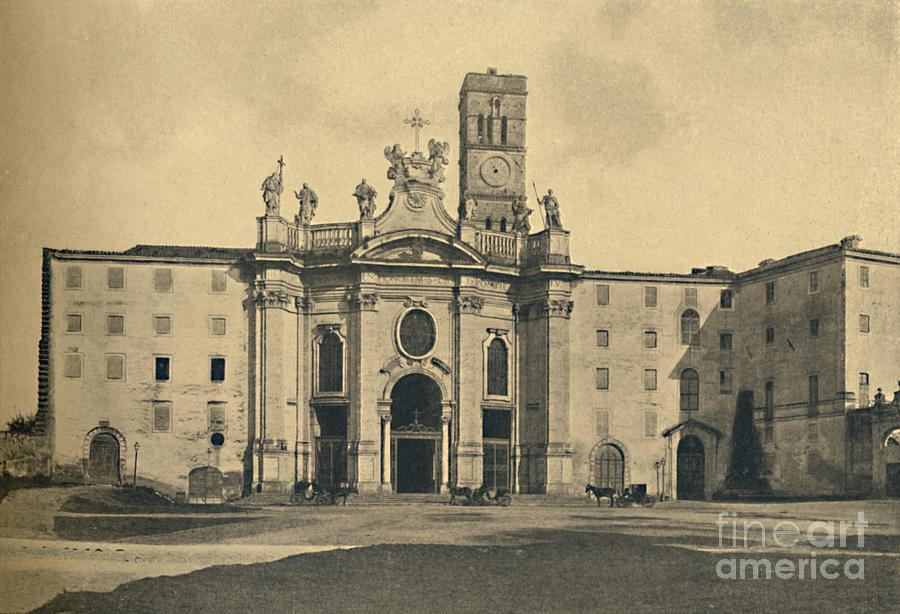 Roma - Basilica Of The Holy Cross Drawing by Print Collector
