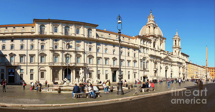 Roma Photograph - Roma - Panorama Of Piazza Navona by Stefano Senise