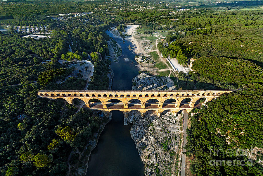 Exterior Photograph - Roman Aqueduct, Pont Du Gard by Er 09