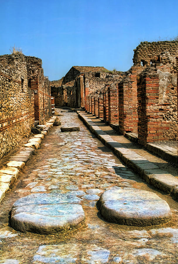 Roman Chariot Road in Pompeii by David Smith