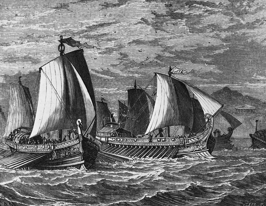 Roman Fleet Photograph by Hulton Archive