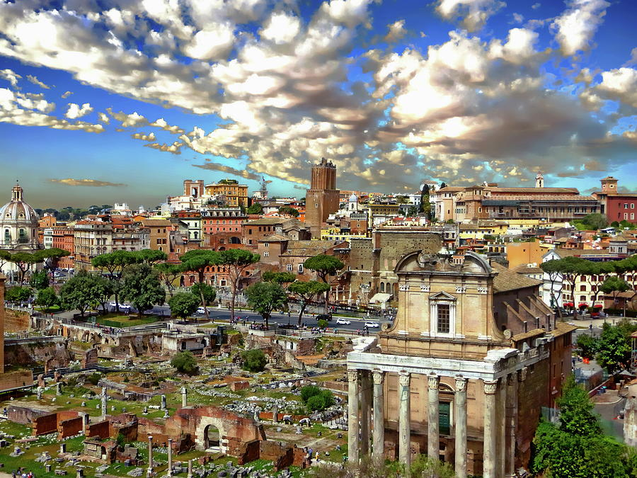 Roman Forum Scenic by Anthony Dezenzio