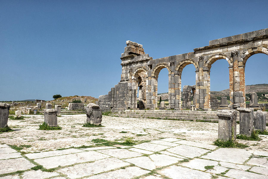 Roman Forum, Volubilis by Photos By Pharos