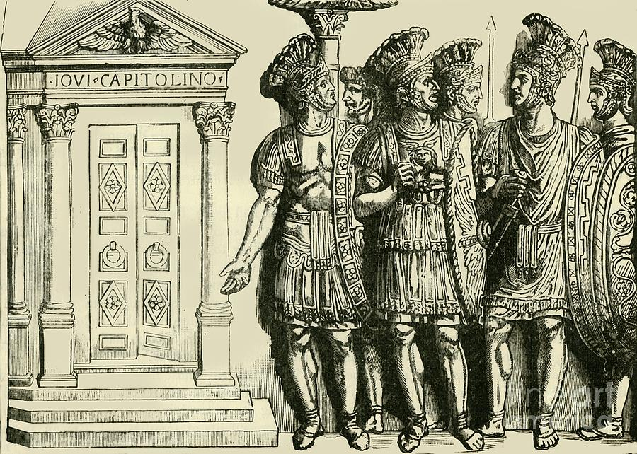 Roman Soldiers Drawing by Print Collector