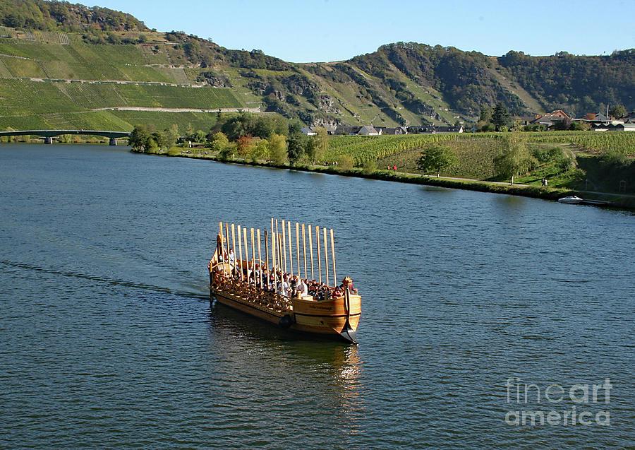 Roman Warship on the Mosel by PJ Boylan
