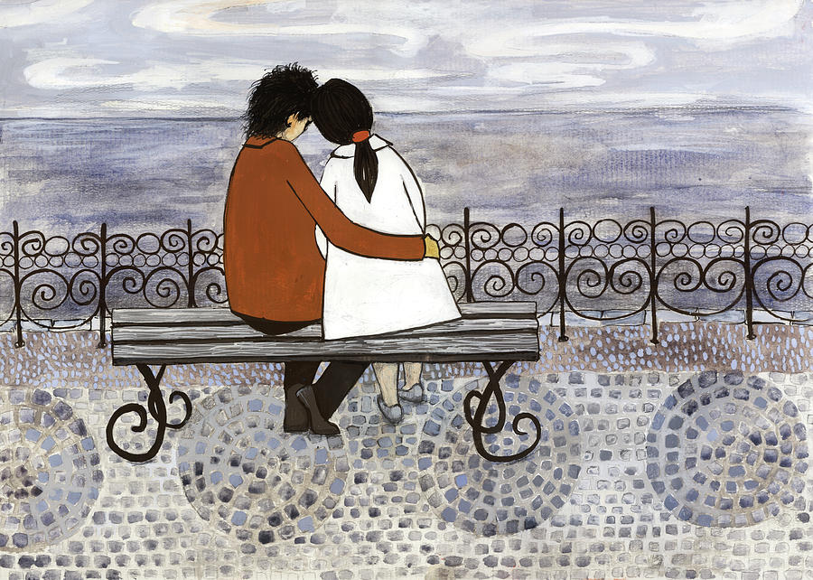 Romance On The Sea Side Digital Art by Georgiana Chitac