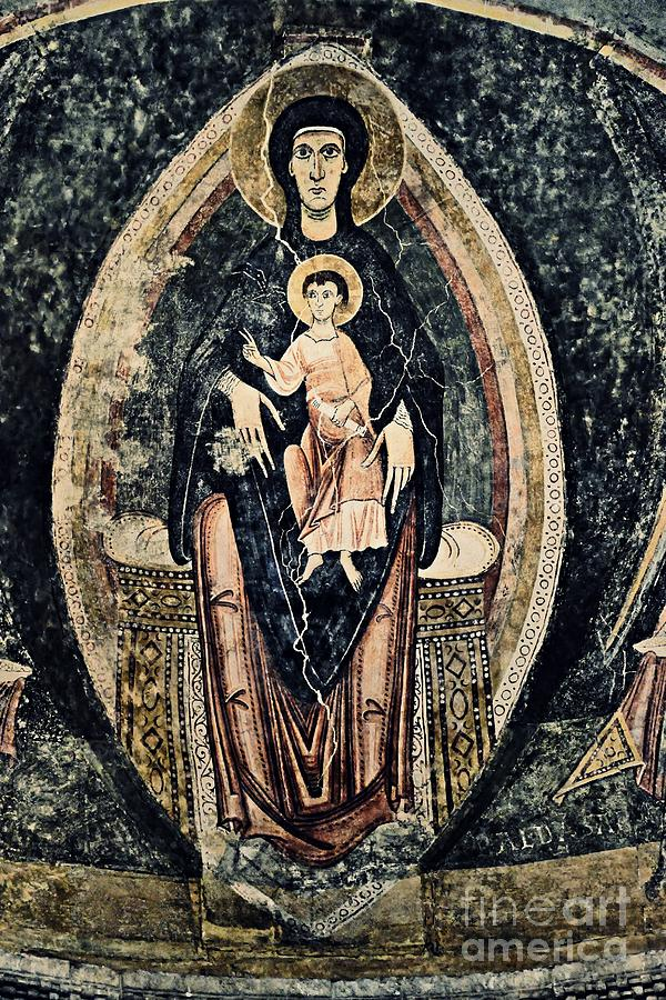 Romanesque  Virgin Mary And Child Photograph