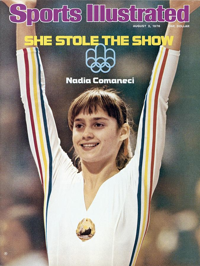 Romania Nadia Comaneci, 1976 Summer Olympics Sports Illustrated Cover Photograph by Sports Illustrated