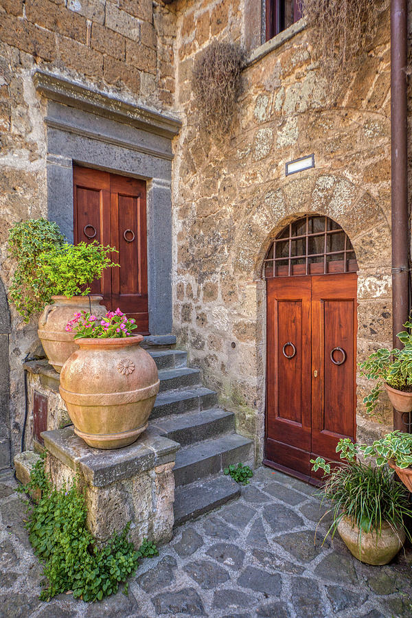 Romantic Courtyard Of Tuscany by David Letts