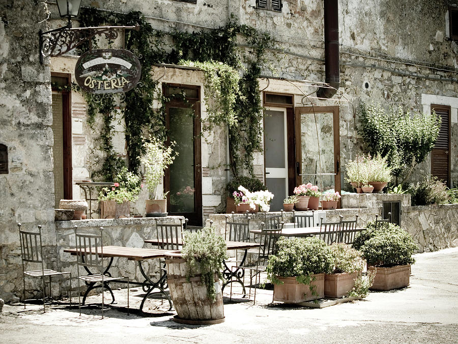 Romantic Italian Osteria Photograph by T-lorien
