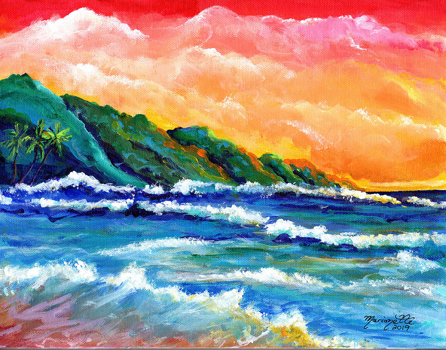 Romantic Kauai Sunset by Marionette Taboniar