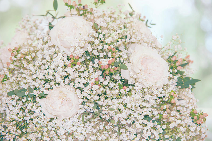 Romantic Wedding Bouquet with Roses by Jenny Rainbow