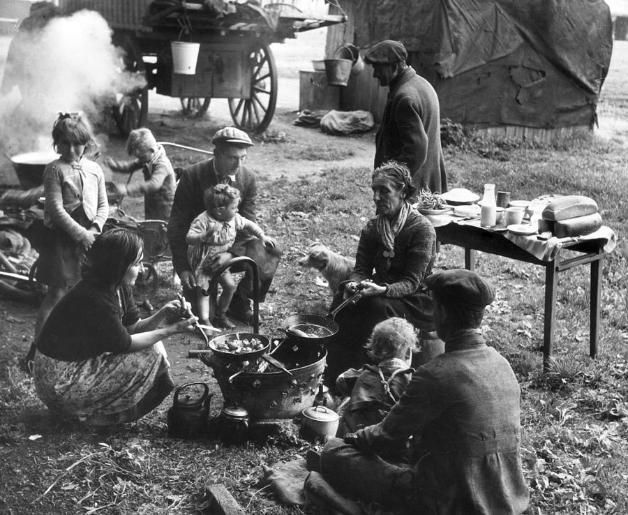 Romany Meal Photograph by Erich Auerbach