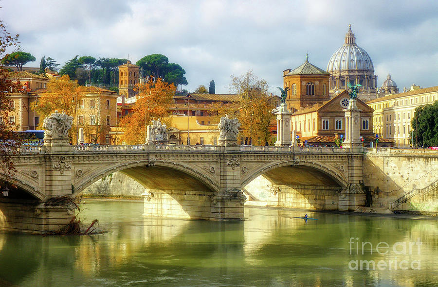Vatican Photograph - Rome and St. Peters basilica by Stefano Senise