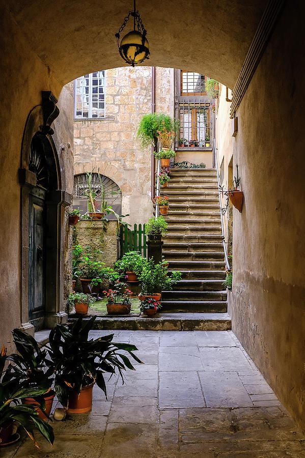 Rome Photograph - The Cobblestone Streets Of Sorrento Italy by Robert Bellomy