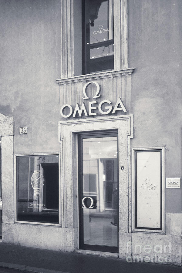 Omega Photograph - Rome Bw - Omega Store by Stefano Senise