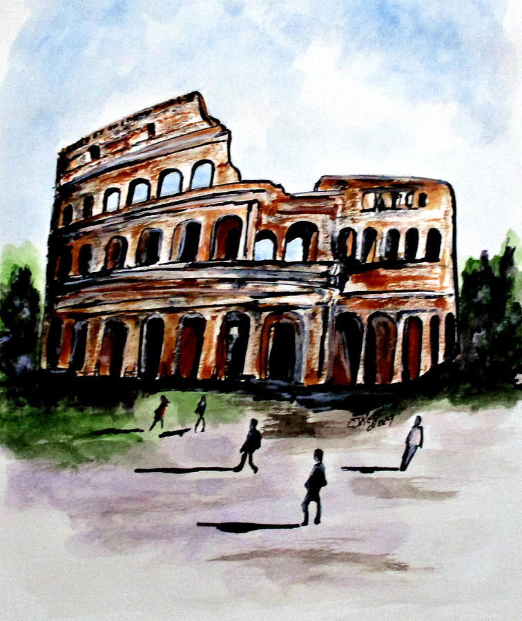 Rome Colosseum by Clyde J Kell